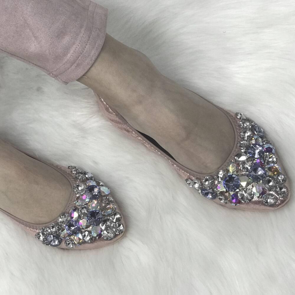 Crystal balerina cipő
