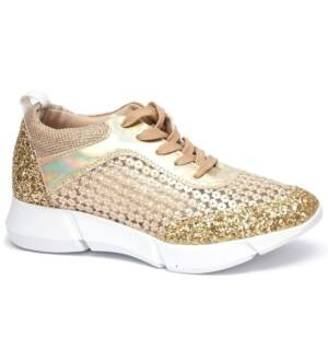 Lucia gold sneaker
