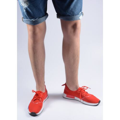 Red mens sneaker
